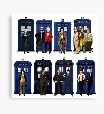 Doctor Who - Doctors & Tardises Canvas Print