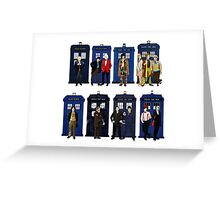 Doctor Who - Doctors & Tardises Greeting Card