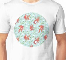Goldfish, Mask and Magnolia Pattern Unisex T-Shirt