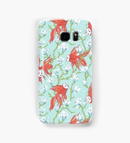 Goldfish, Mask and Magnolia Pattern Samsung Galaxy Case/Skin