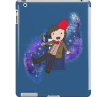 Cartoon 11th Doctor (with Tardis) iPad Case/Skin