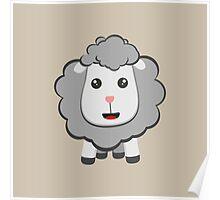 Big eyed kawaii sheep Poster