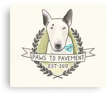 Paws To Pavement Dog Walking San Diego Bull Terrier OG Canvas Print