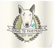 Paws To Pavement Dog Walking San Diego Bull Terrier OG Poster