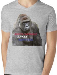 Deplorable Harambe :) Mens V-Neck T-Shirt