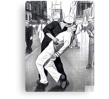 V-Day Kiss Canvas Print