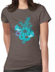 Folk birds Womens Fitted T-Shirt