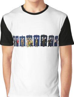 Doctor & Tardis Lineup Graphic T-Shirt