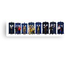 Doctor & Tardis Lineup Canvas Print