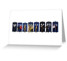 Doctor & Tardis Lineup Greeting Card