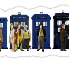 Doctor & Tardis Lineup Sticker