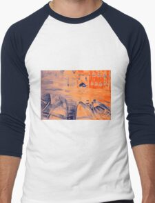 Colorful watercolor painting with boats on the bay Men's Baseball ¾ T-Shirt