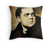 Orson Welles Vintage Hollywood Actor Throw Pillow