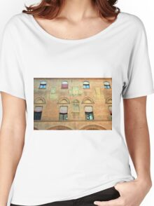 Classical red brick facade from Bologna Women's Relaxed Fit T-Shirt
