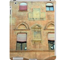 Classical red brick facade from Bologna iPad Case/Skin