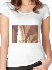 Vintage Gothic arches and columns in Bologna Women's Fitted Scoop T-Shirt