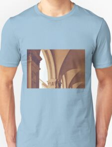 Vintage Gothic arches and columns in Bologna Unisex T-Shirt