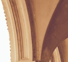 Vintage Gothic arches and columns in Bologna Sticker