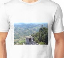 Aerial view of San Marino with towers Unisex T-Shirt