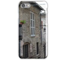 Street from Assisi with stone buildings iPhone Case/Skin