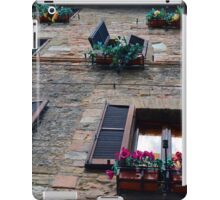 Stone building facade from Assisi with shutter and flowers iPad Case/Skin