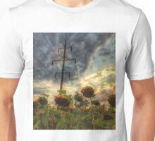 field of faded sunflowers  Unisex T-Shirt