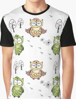 different owls,hand drawing Graphic T-Shirt