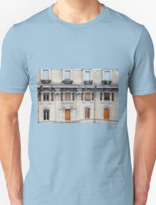 Beautiful decorative classical building facade from Genova Unisex T-Shirt