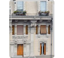 Beautiful decorative classical building facade from Genova iPad Case/Skin