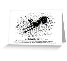 Greyhound Glossary: Greyxplosion Greeting Card