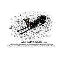 Greyhound Glossary: Greyxplosion Photographic Print