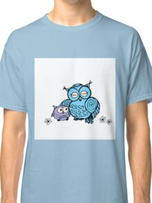 mother owl and owlet,  hand drawing  Classic T-Shirt