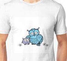 mother owl and owlet,  hand drawing  Unisex T-Shirt