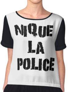 Fuck The Police Classic French Movie Quotes Rap Song Lyrics T-Shirts Chiffon Top