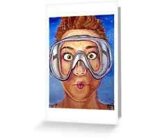 Underwater Mask Greeting Card