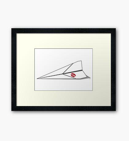 Paper Airplane 8 Framed Print