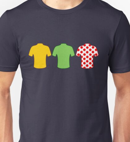 Tour de France jerseys Unisex T-Shirt