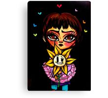 Undertale Frisk and Flowey Canvas Print