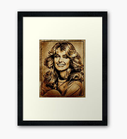 Farrah Fawcett Hollywood Actress Framed Print
