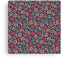 Beautiful seamless retro pattern. Little flower pretty background.  Canvas Print