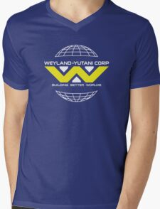 Weyland Yutani - Bright Yellow Logo Mens V-Neck T-Shirt