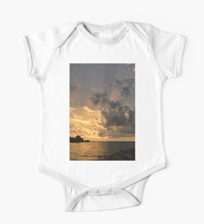 Beam me up - God Rays Brighten the Sky at Sunrise One Piece - Short Sleeve