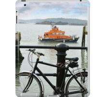 rescue lifeboat in cobh with bicycle iPad Case/Skin