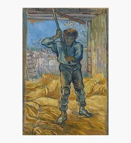 Vincent Van Gogh -  Thresher (After Millet), 1889 Photographic Print