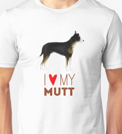 Mutt Love: Tricolor Unisex T-Shirt