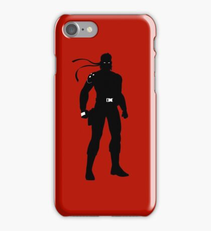 Solid Snake [Metal Gear Solid] iPhone Case/Skin