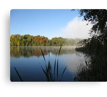 A Fine Autumn Morning By The River Canvas Print