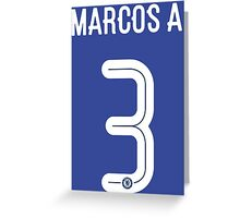Marcos Alonso Greeting Card