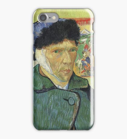 Vincent Van Gogh - Self Portrait With Bandaged Ear 1889 iPhone Case/Skin