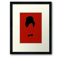 Minimalist Doctor w/ Fez! [Dr Who] Framed Print
